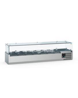 Ecofrost gekoelde opzetvitrine 1200mm