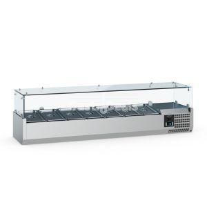 Ecofrost gekoelde opzetvitrine 1500mm