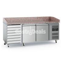 Ecofrost pizzawerkbank 2 drs 7 laden